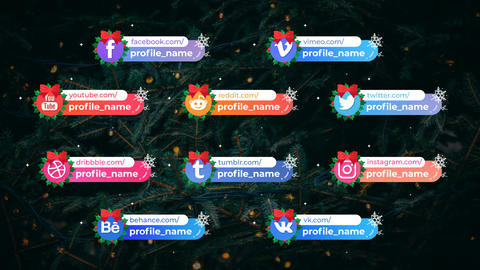 Winter Social Lower Thirds After Effects Template