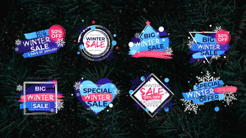 Winter Sale Titles After Effects Template