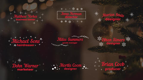 Christmas Titles and Lower Thirds After Effects Template