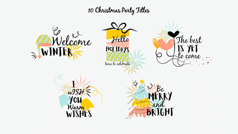 Neo Christmas Party Title MOGRT Motion Graphics Template