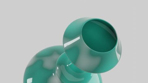 Green ceramic empty flower vase 3D Model