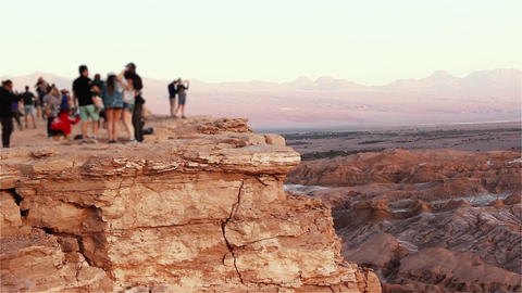 Cliff Edge In The Death Valley (Coyote Rock), Atacama Desert, Chile Live Action