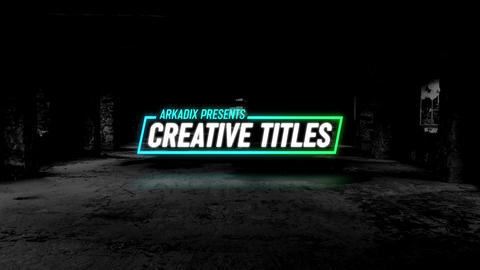 Creative Titles 4k Motion Graphics Template