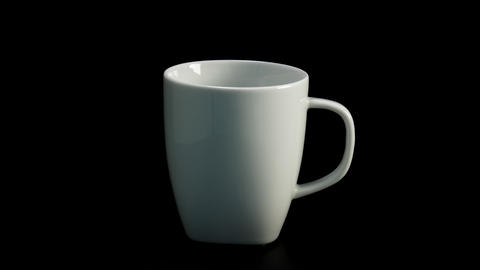 A regular coffee is poured into a mug from a coffee pot, Live Action