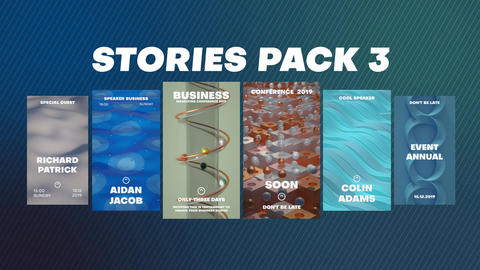 Stories Pack 3 Plantillas de Motion Graphics