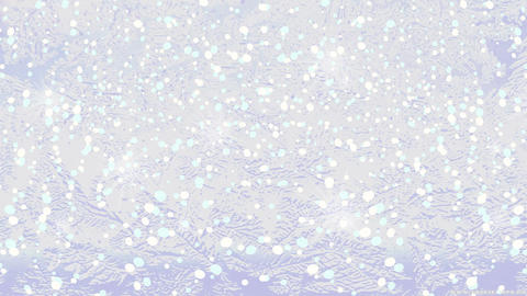 HD winter background. Glittering frozen window white background Animation