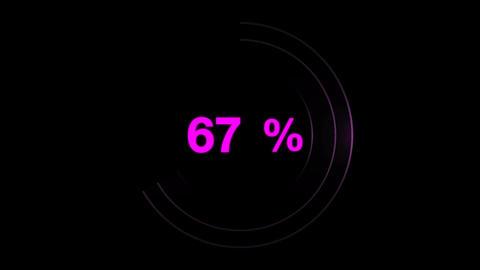 Progress loading circle UI indicator CG動画