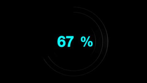 Progress loading circle UI indicator Animation