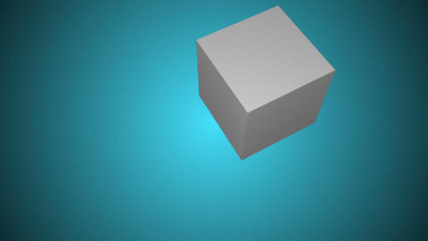 Water drops on a cube Animation