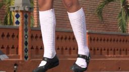 Socks And Legs Of Dancing Girl Footage
