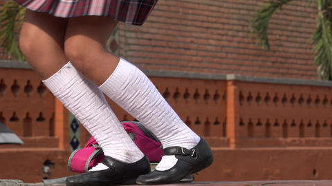 Legs Of Female Student Dancing Footage