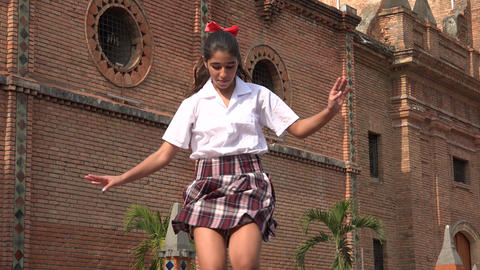 Female Student Dancing Hiphop Footage