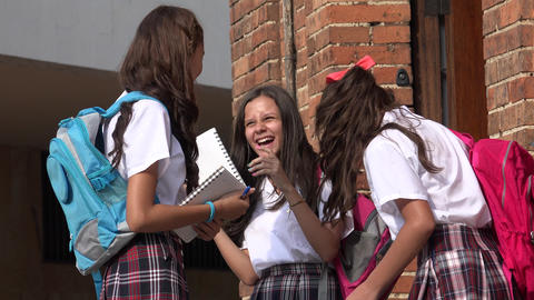 School Kids Laughing Having Fun Live Action