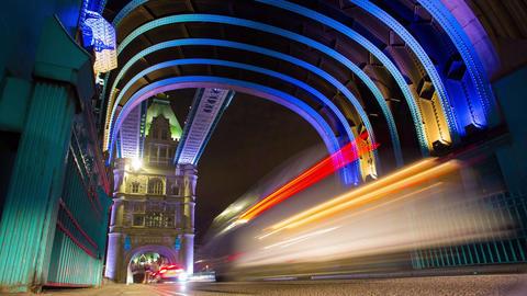 On London tower bridge Footage