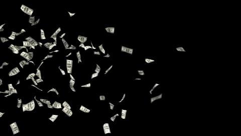 Dollars Money Falling 3 Animation