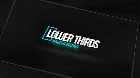 Lower Thirds Modern After Effects Template
