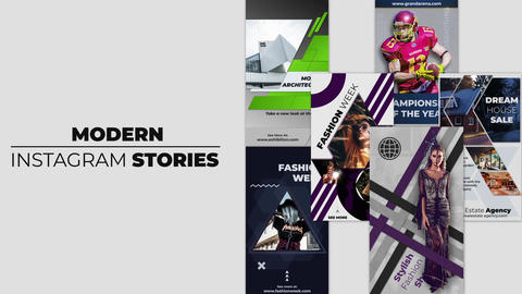 Modern Instagram Stories After Effects Template