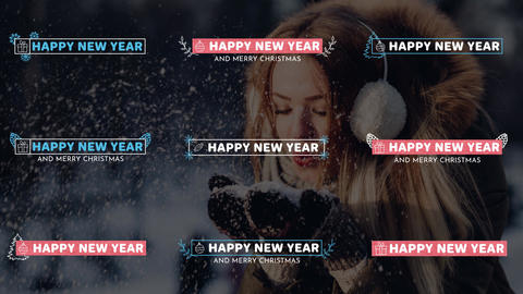 New Year Lower Thirds Motion Graphics Template