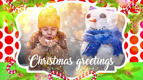 Bright Christmas Greeting After Effects Template