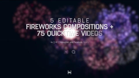 Editable Fireworks Template After Effectsテンプレート