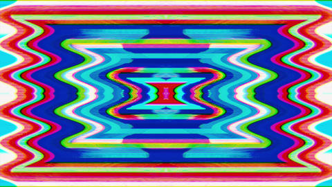 Colorful vintage futuristic psychedelic glittering background. Psychedelic trip Live Action