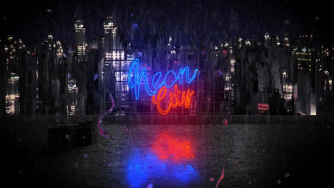 Neon City Logo After Effects Template