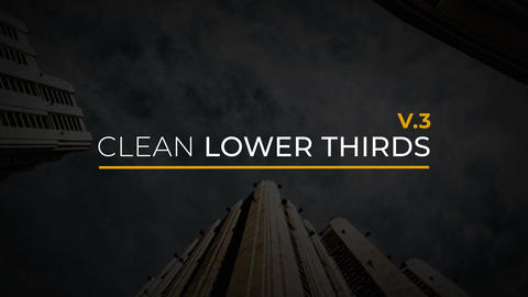 Clean Lower Thirds V3 After Effectsテンプレート