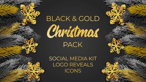 Black and Gold Christmas Premiere Pro Template