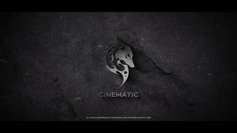Cinematic Metal Logo After Effects Template