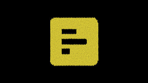 Symbol poll is knitted from a woolen thread. Knit like a sweater Animation