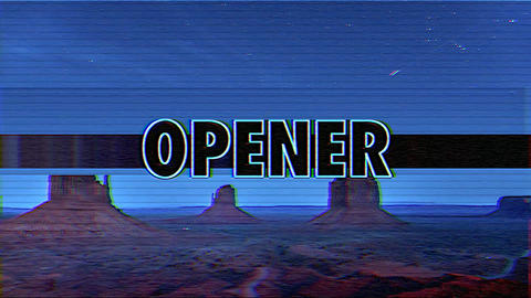 VHS Retro Opener Apple Motion Template