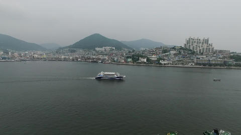 Yeosu coast boat Live Action