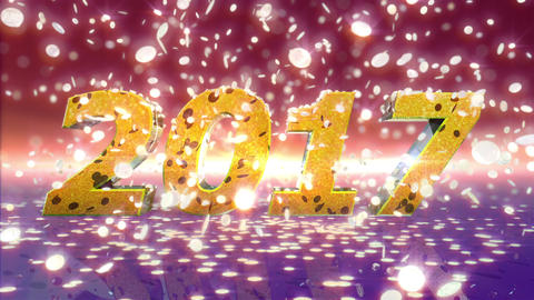 New Year 2017 Animation CG動画素材