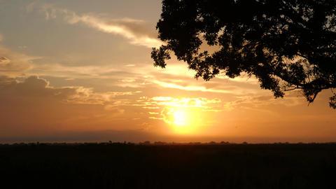 Sunrise Over Silhouettes Plains Prairie, 4K Footage