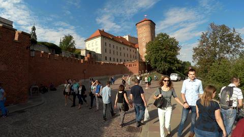 Senator Tower of Wawel Royal Castle, Krakow, Poland. 4K Footage