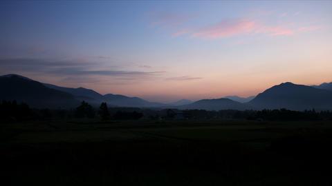 Dawn of Hakuba, time lapse Footage