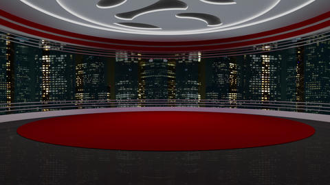 News TV Studio Set 214- Virtual Background Loop Live Action