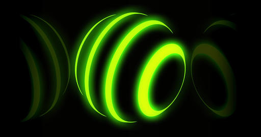 Neon yellow light orb showing a global technology sphere - 4k loop Animation