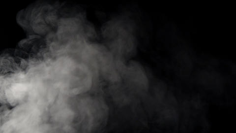 White smoke on black background 실사 촬영