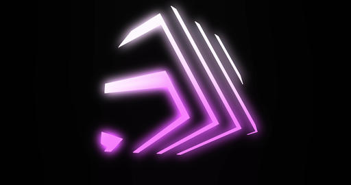 Neon cube shape with glowing abstract of light and futuristic design - 4K loop Animation