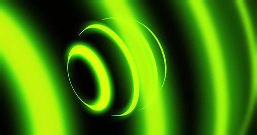 Glowing orb green futuristic pattern represents a luminous atom - 4k loop Animation