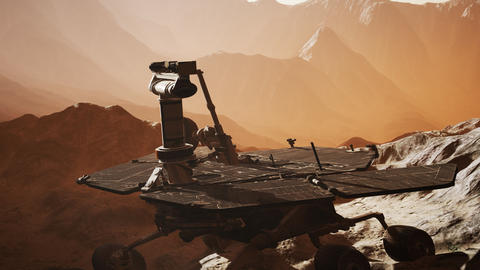 Opportunity Mars exploring the surface of red planet Live Action