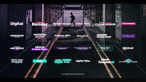 Digital Glitch Titles After Effects Template