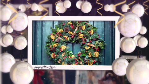 Christmas New Year Photo Slideshow After Effects Template