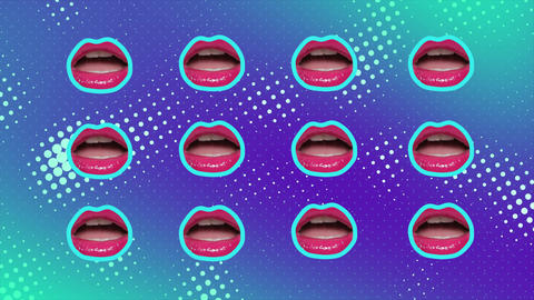 Minimal motion design art lips animation Live Action