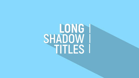 Long Shadow Title After Effectsテンプレート