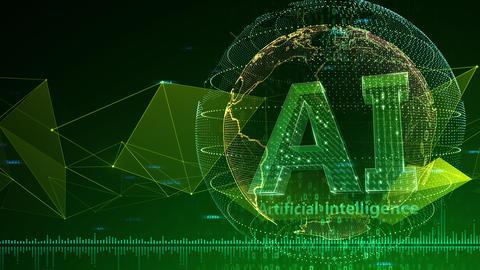AI artificial intelligence digital network technologies 19 3 Mix 7 green 3 4k CG動画
