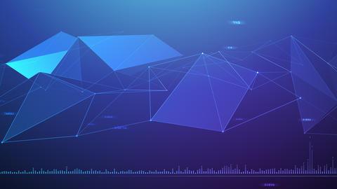 AI artificial intelligence digital network technologies 19 3 BG 7 blue 1 4k CG動画