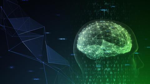 AI artificial intelligence digital network technologies 19 3 Mix 7 green 1 4k Animation