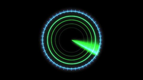 Radar image CG communication material Animation